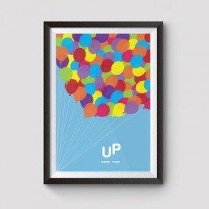 up disney film posters