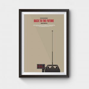 back to future 88mph movie poster