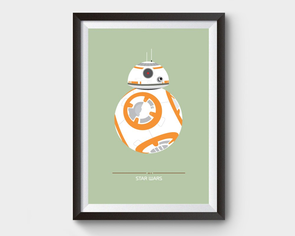 BB8 Star Wars Film Poster
