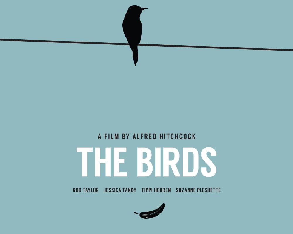 Alfred Hitchcock Birds Poster