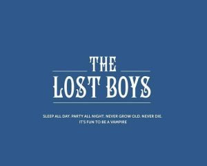 the lost boys movie poster