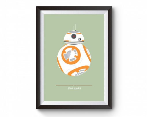 bb8 star wars movie poster