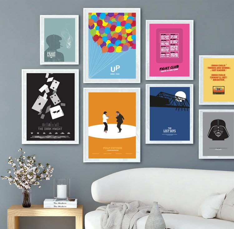 movie poster gallery wall
